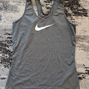 Nike grey racer back tank